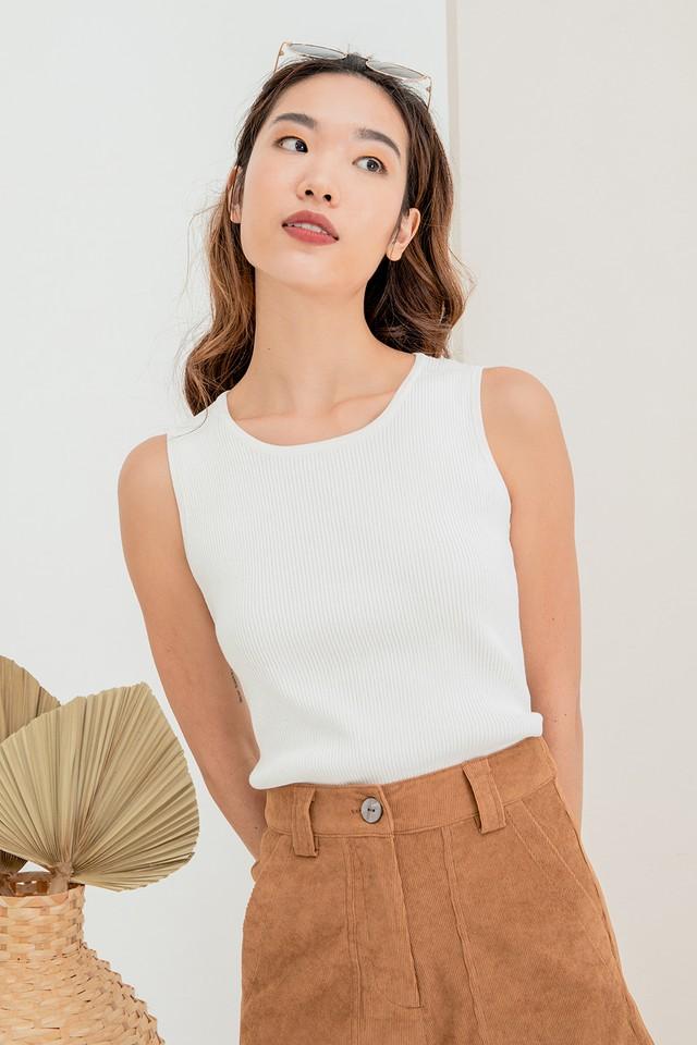 Tanika Knit Top White