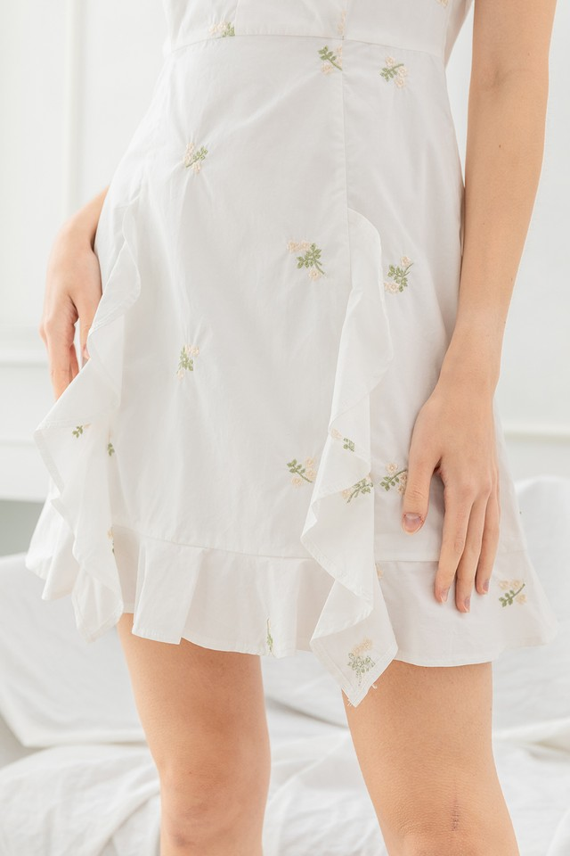 Jammi Embroidery Dress Cream Floral
