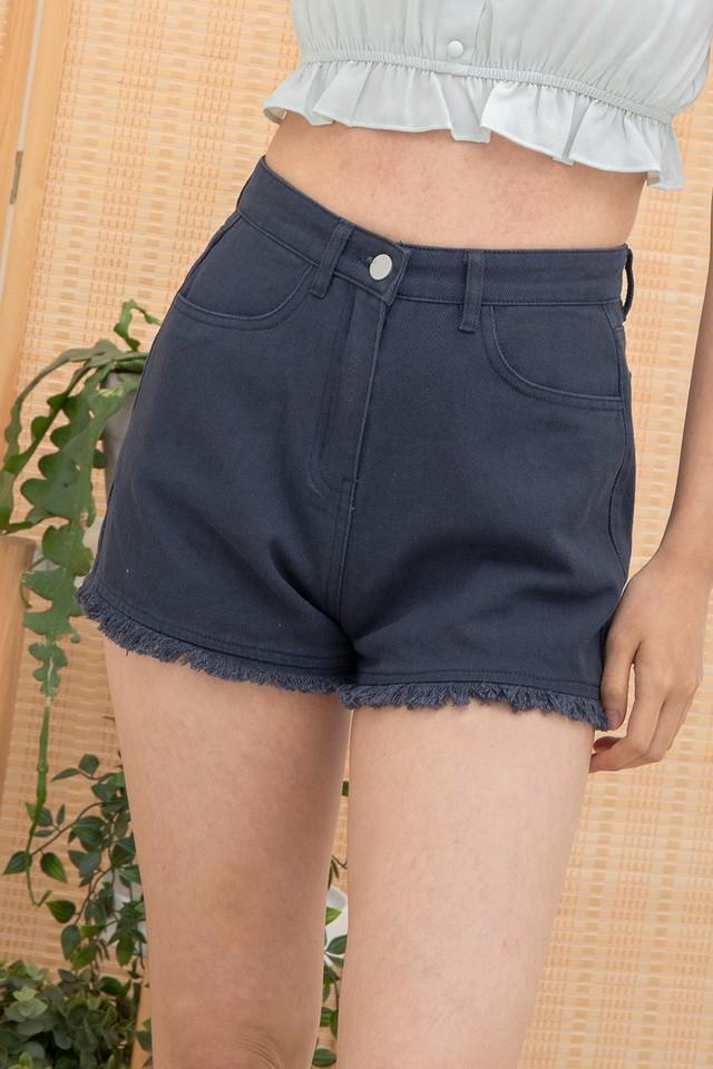 Callie Denim Shorts Navy