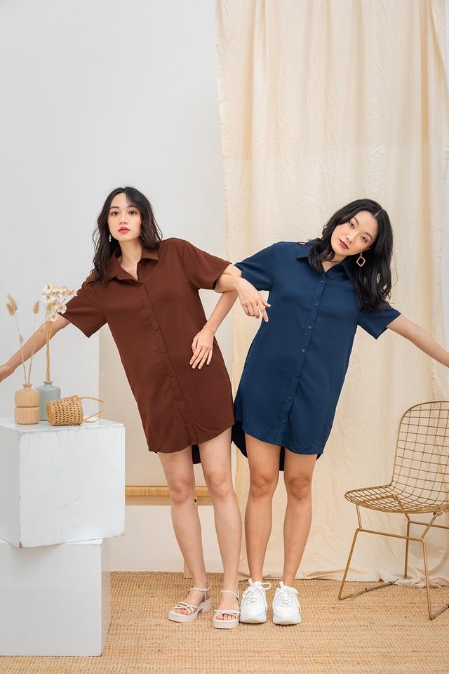 Miyoko Shirtdress Deep Terracotta