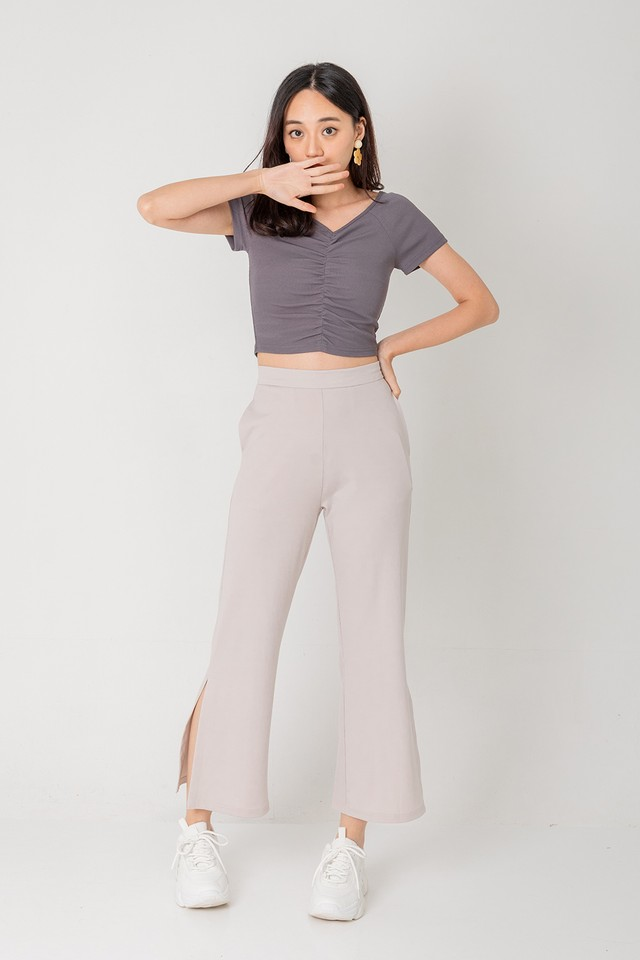 All Wanted Slit Pants Grey