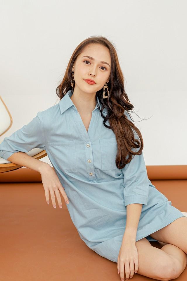 Vanisa Shirtdress Light Wash