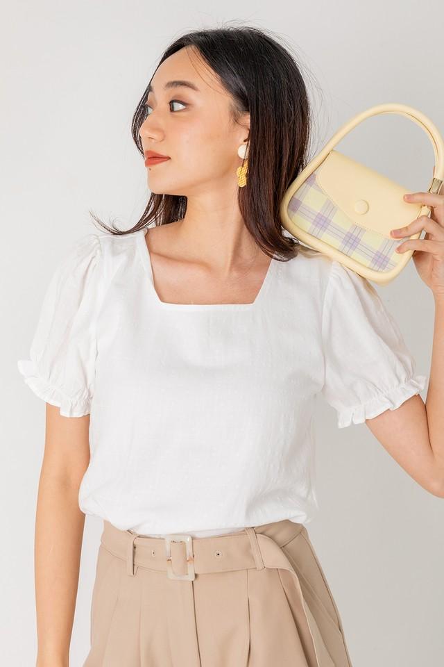 Abbi Textured Top White