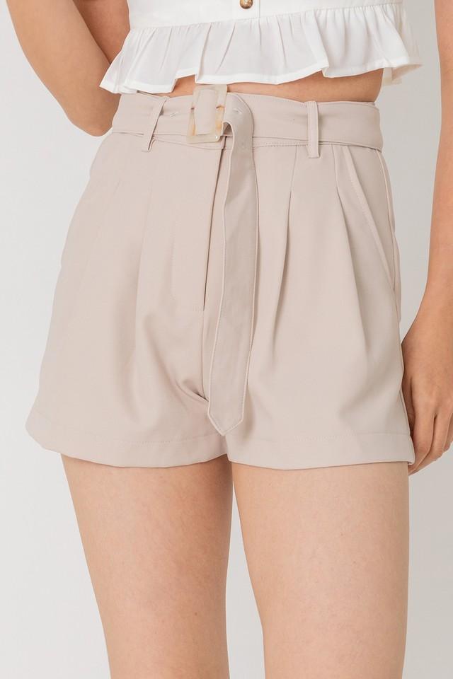 Keyon Belted Shorts Sand