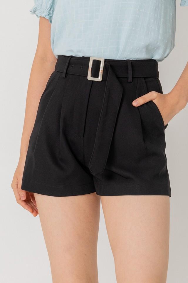 Keyon Belted Shorts Black
