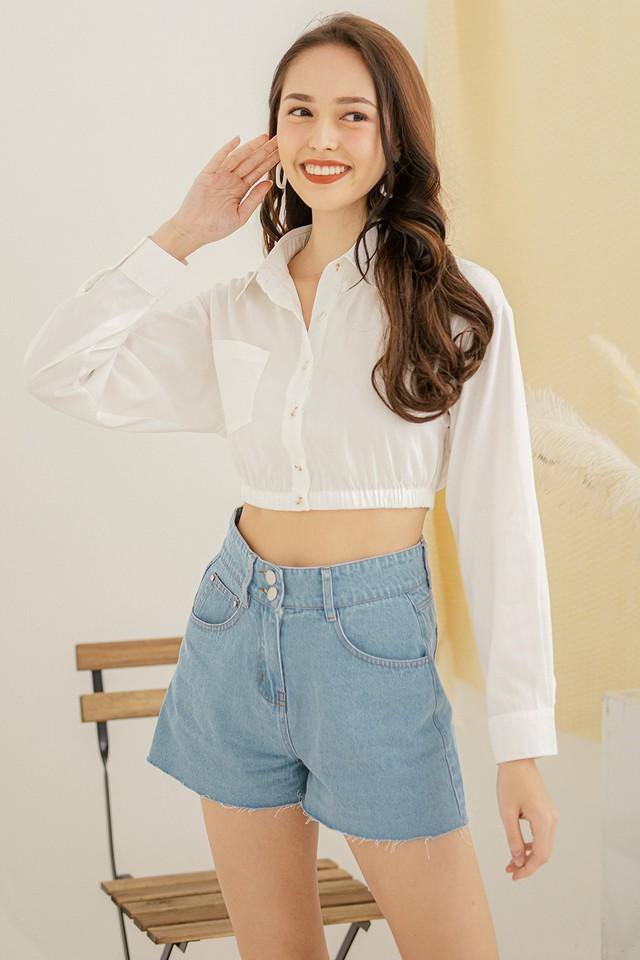 Roro Crop Shirt White
