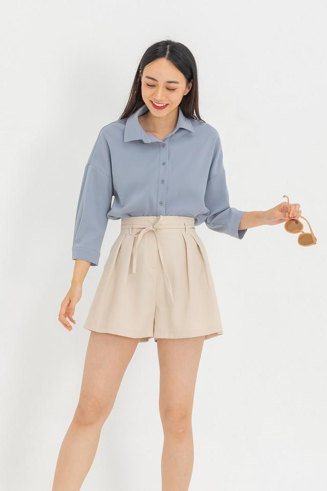 Preston Shirt Grey Blue