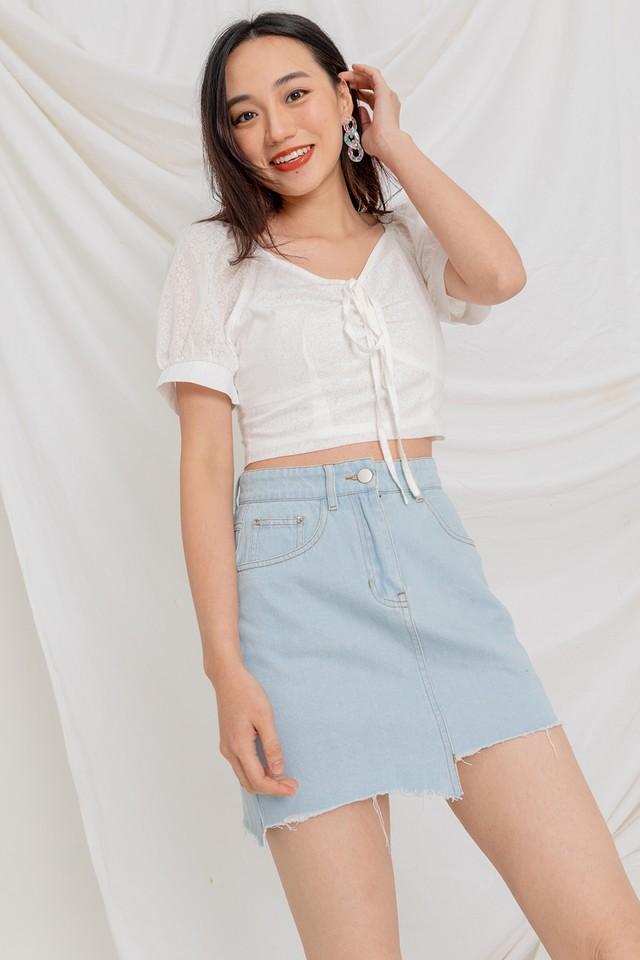 Kebbie Denim Skirt Light Wash