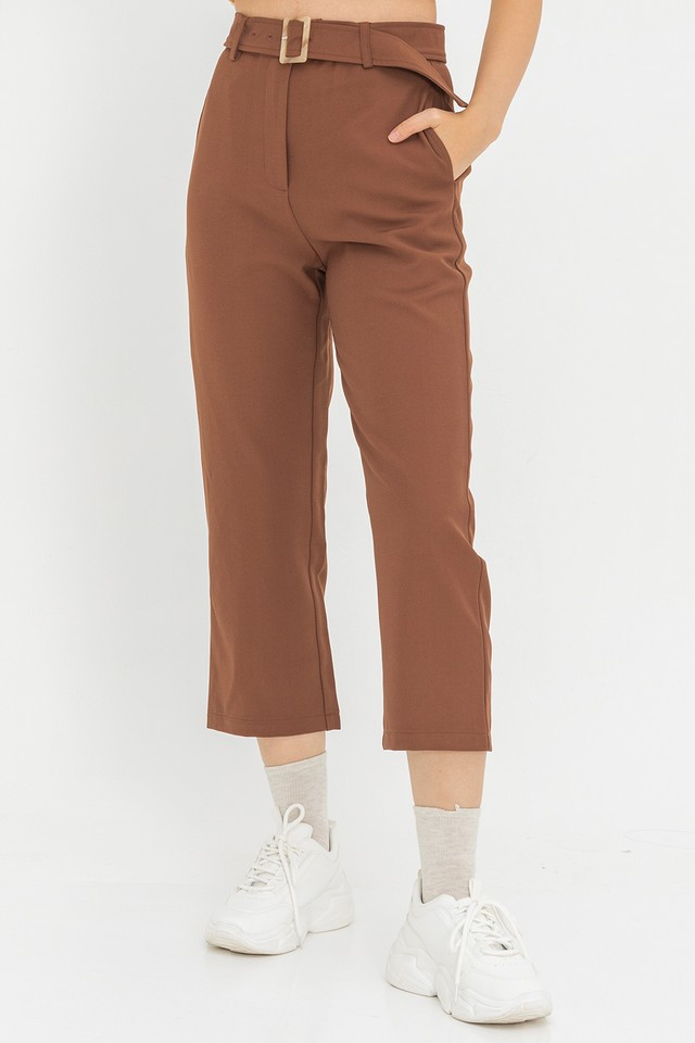 Lucina Belted Culottes Coffee