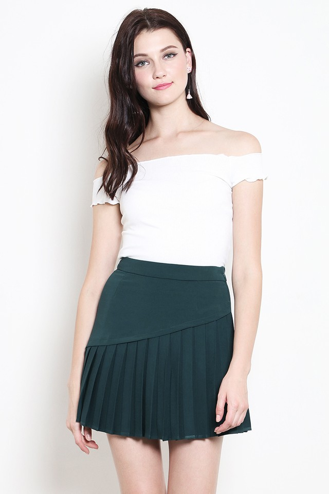 Marlow Pleat Skirt Forest
